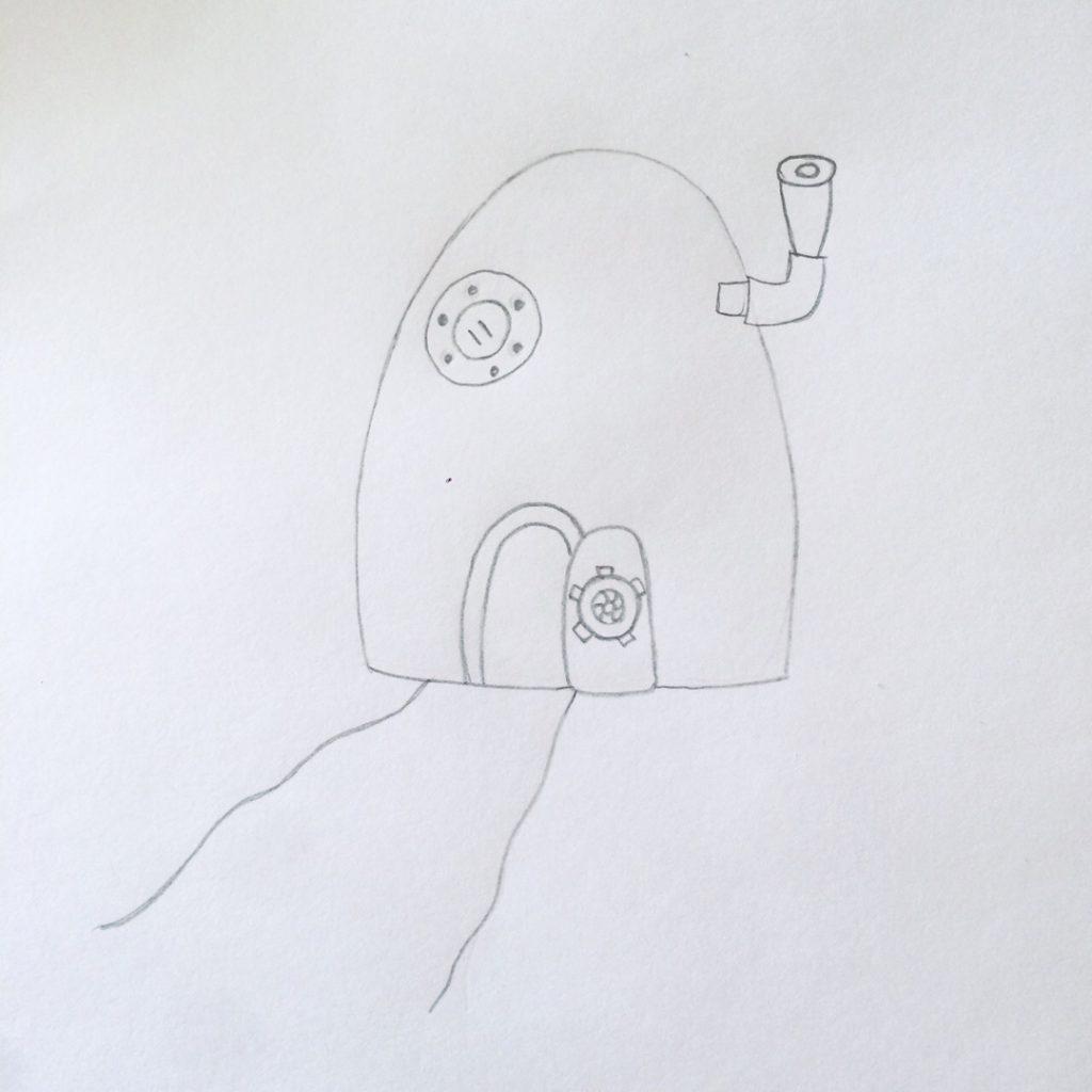 дверь, окно, труба дома