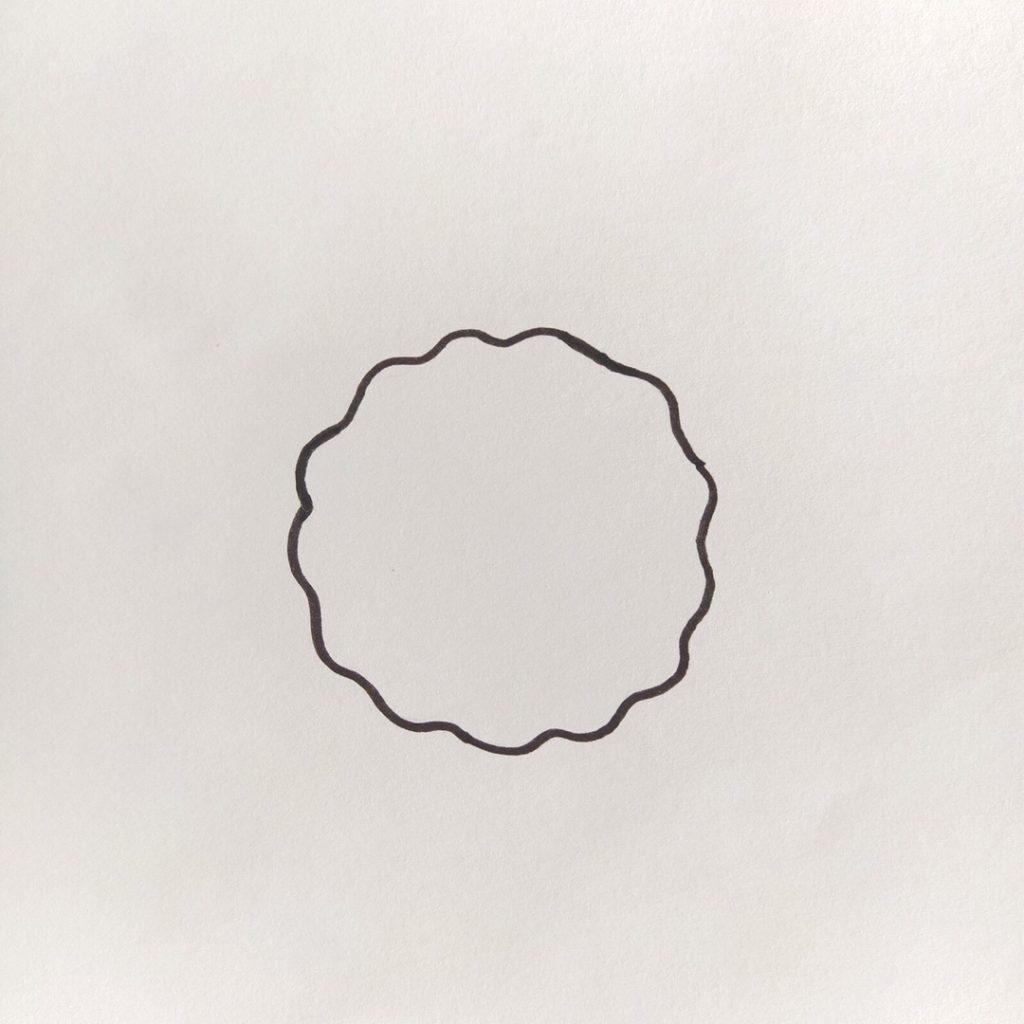 волнистый круг