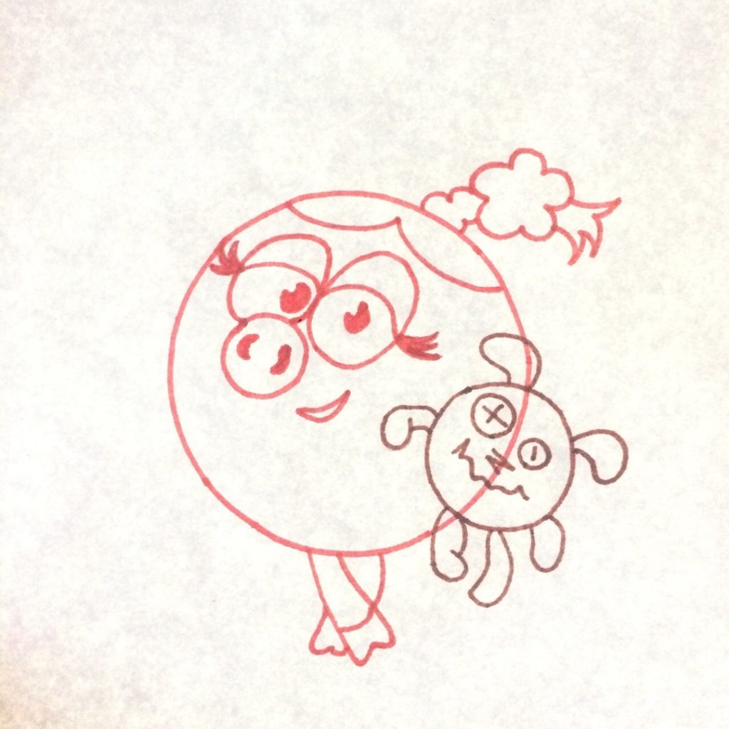 дорисовываем игрушку свинки