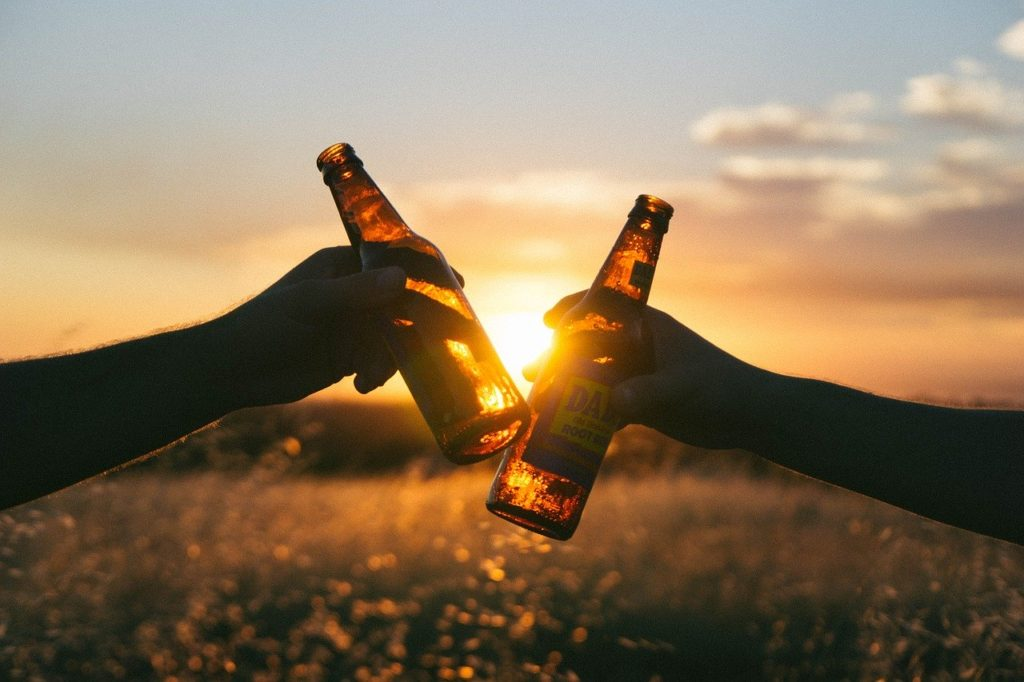 2 бутылки пива