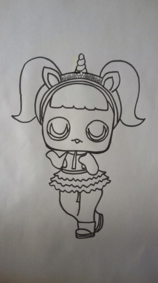 как рисовать куклу