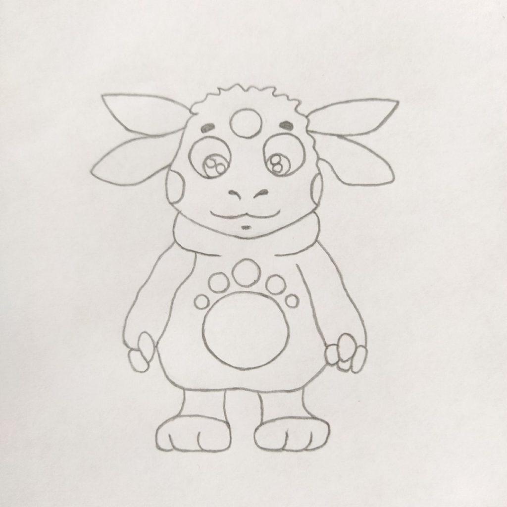 как рисовать лунтика