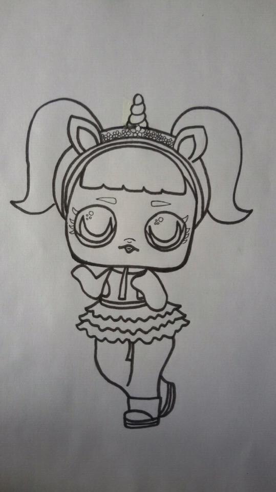 как нарисовать куклу лол поэтапно