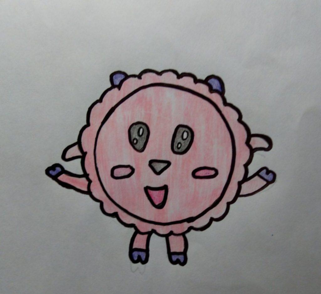 рисуем барашика
