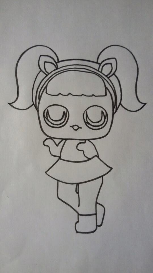 как нарисовать куклу лол для начинающих