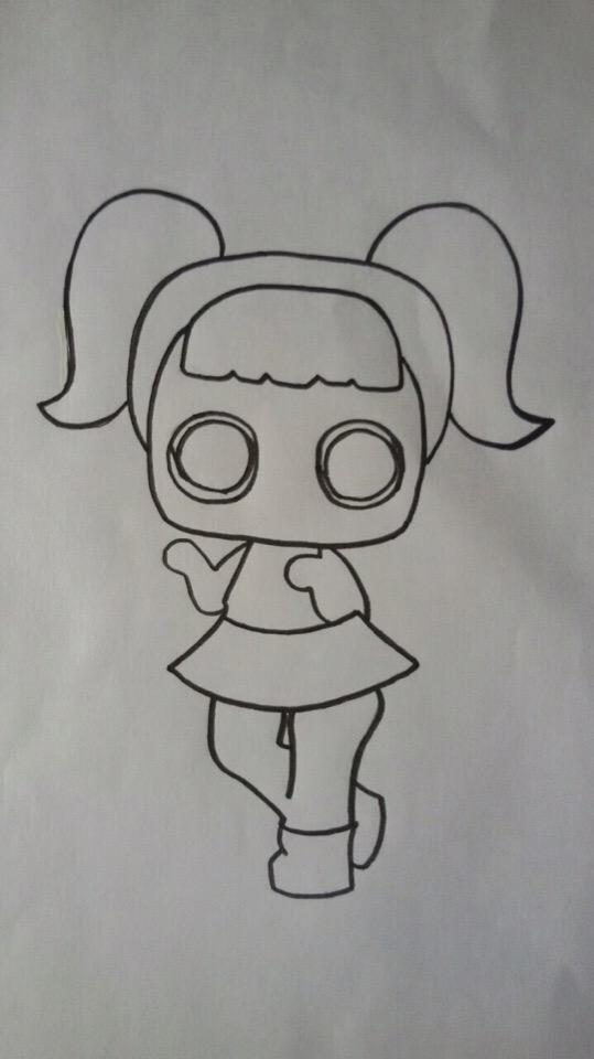 как рисовать куклу лол