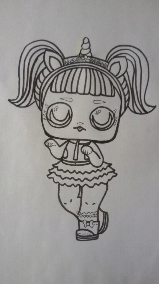 рисунки кукол лол