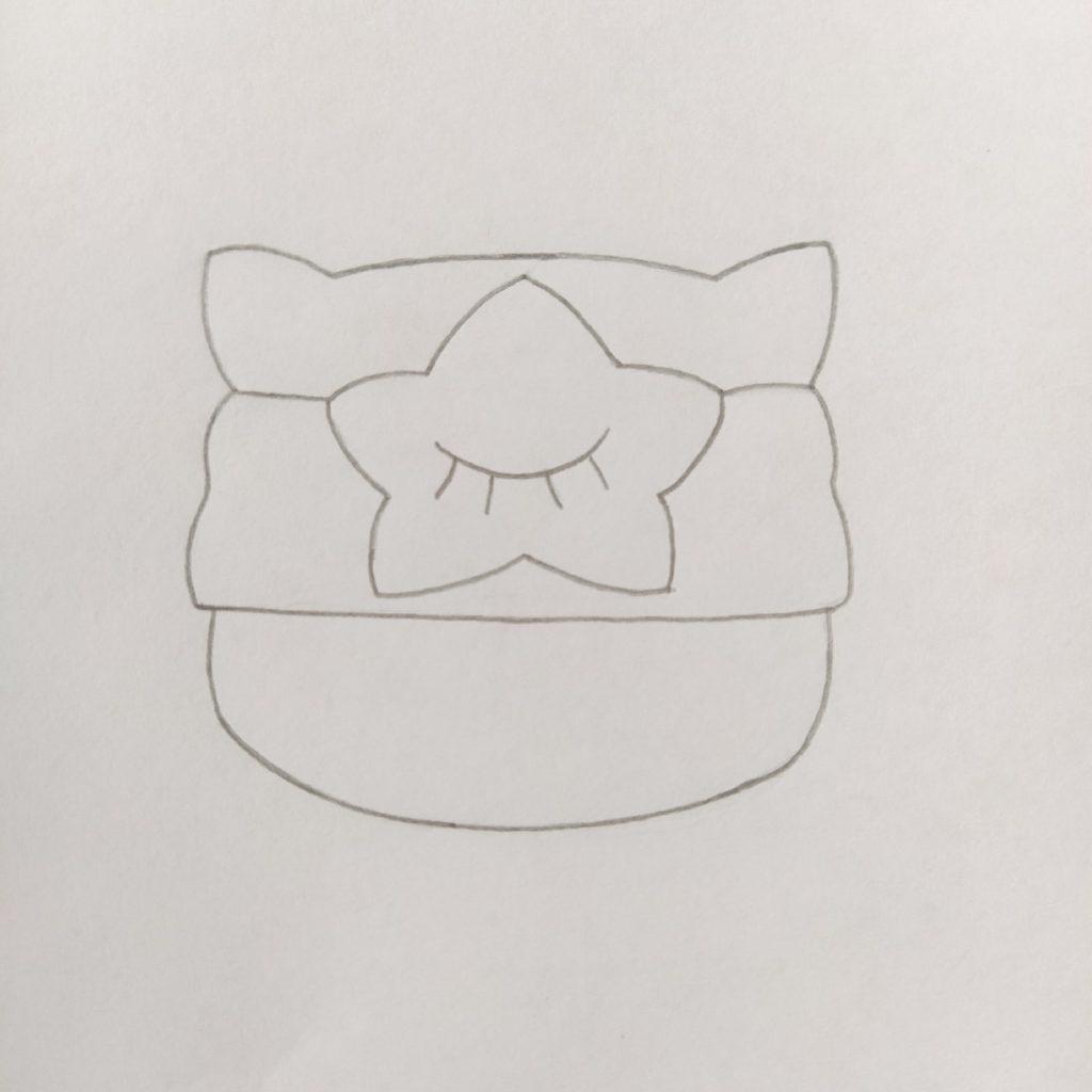 как нарисовать сэнди из brawl stars