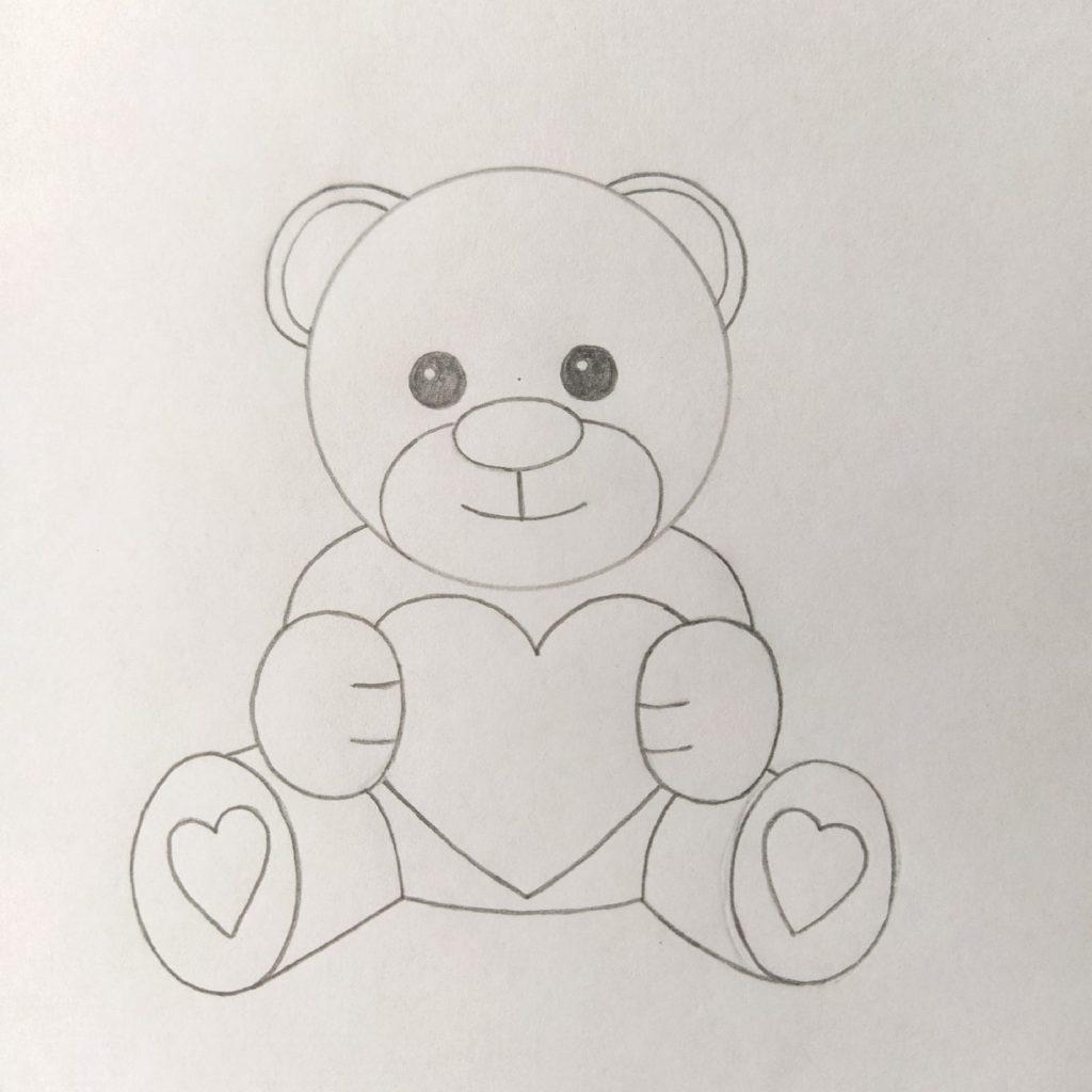 нарисовать медведя ребенку