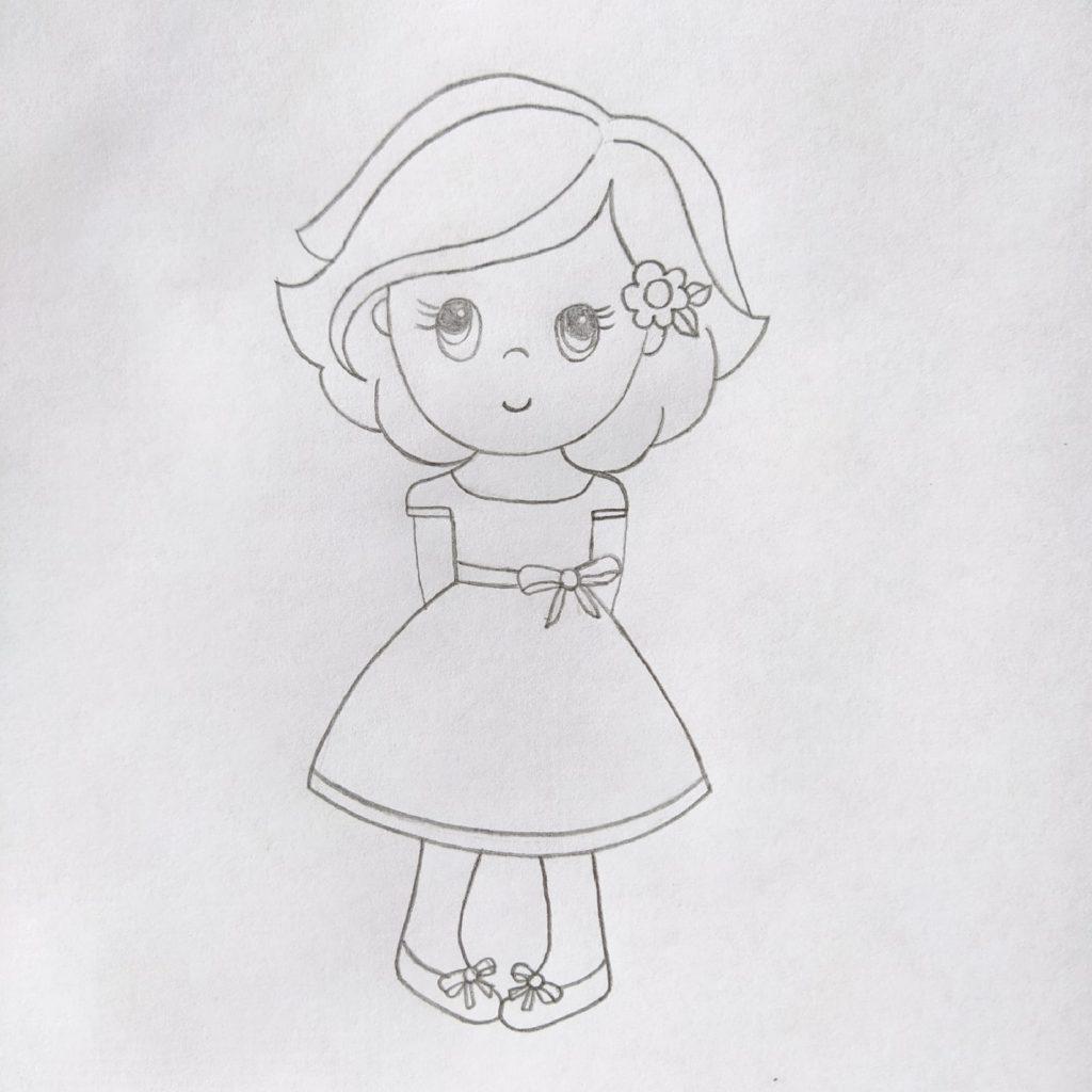 как нарисовать человека девочку