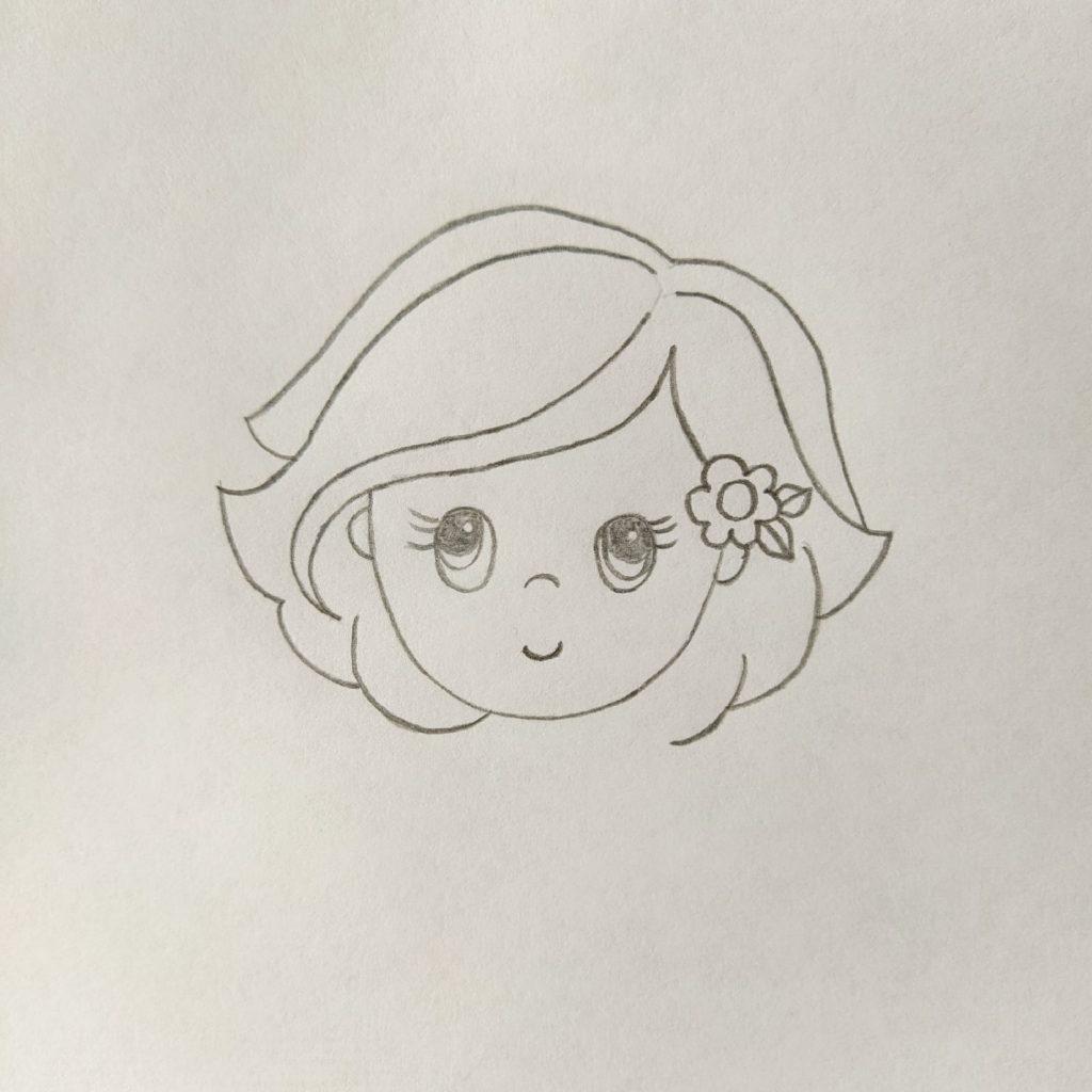 как нарисовать милую девочку