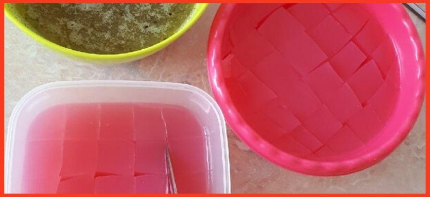 желейный торт стекло