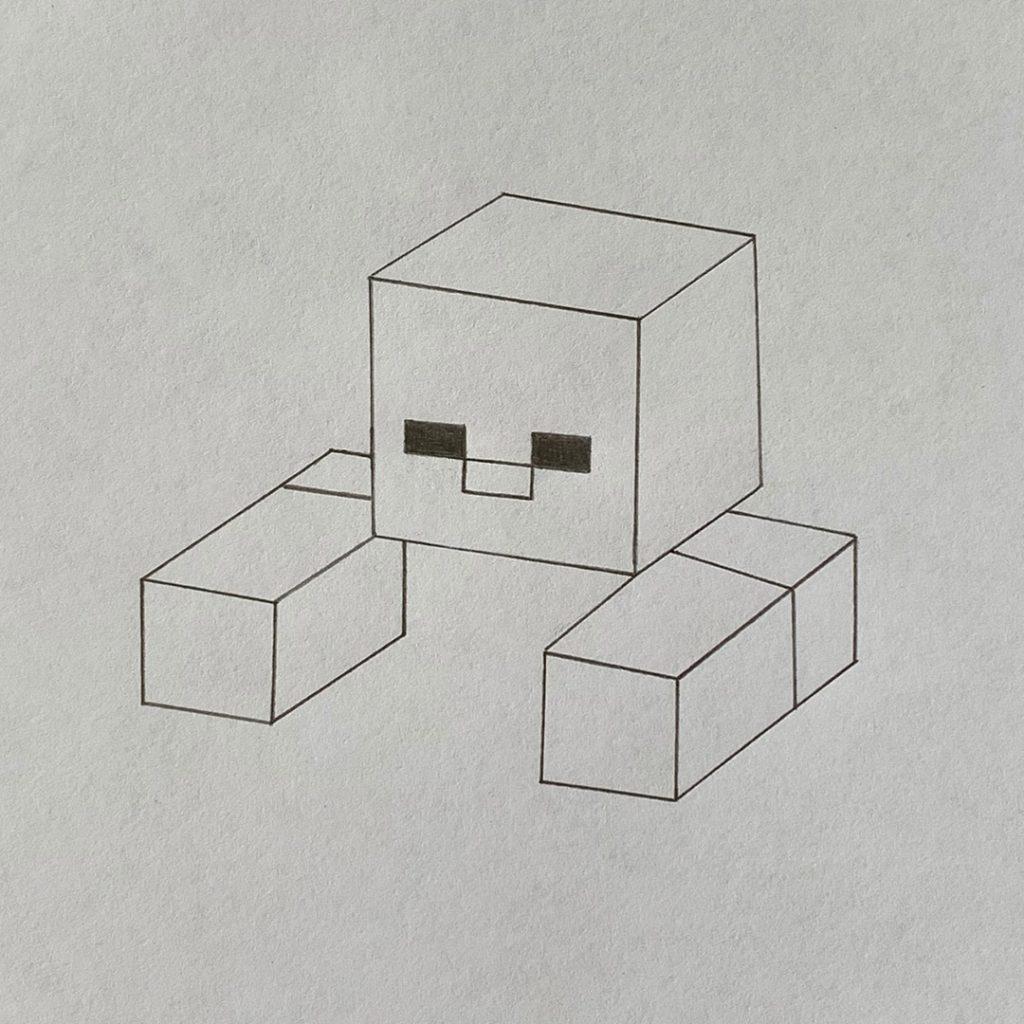 как нарисовать minecraft