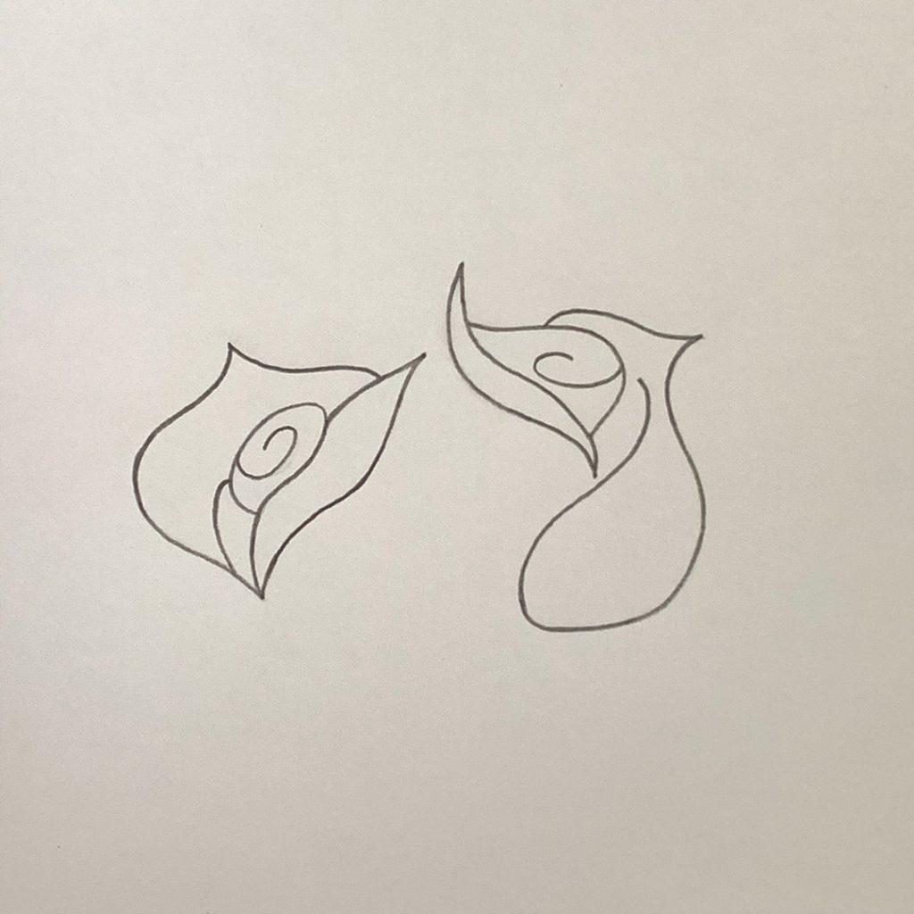 рисовать розу