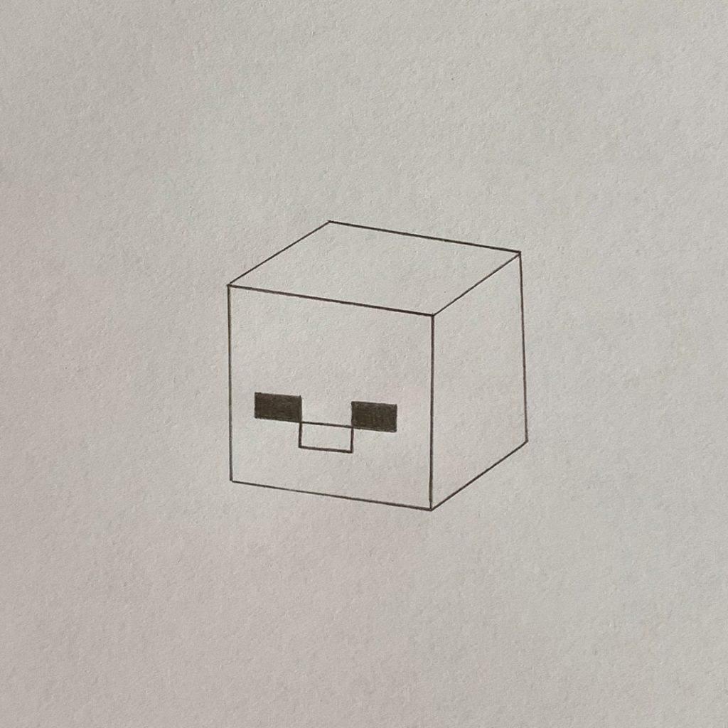 рисунок зомби из майнкрафта