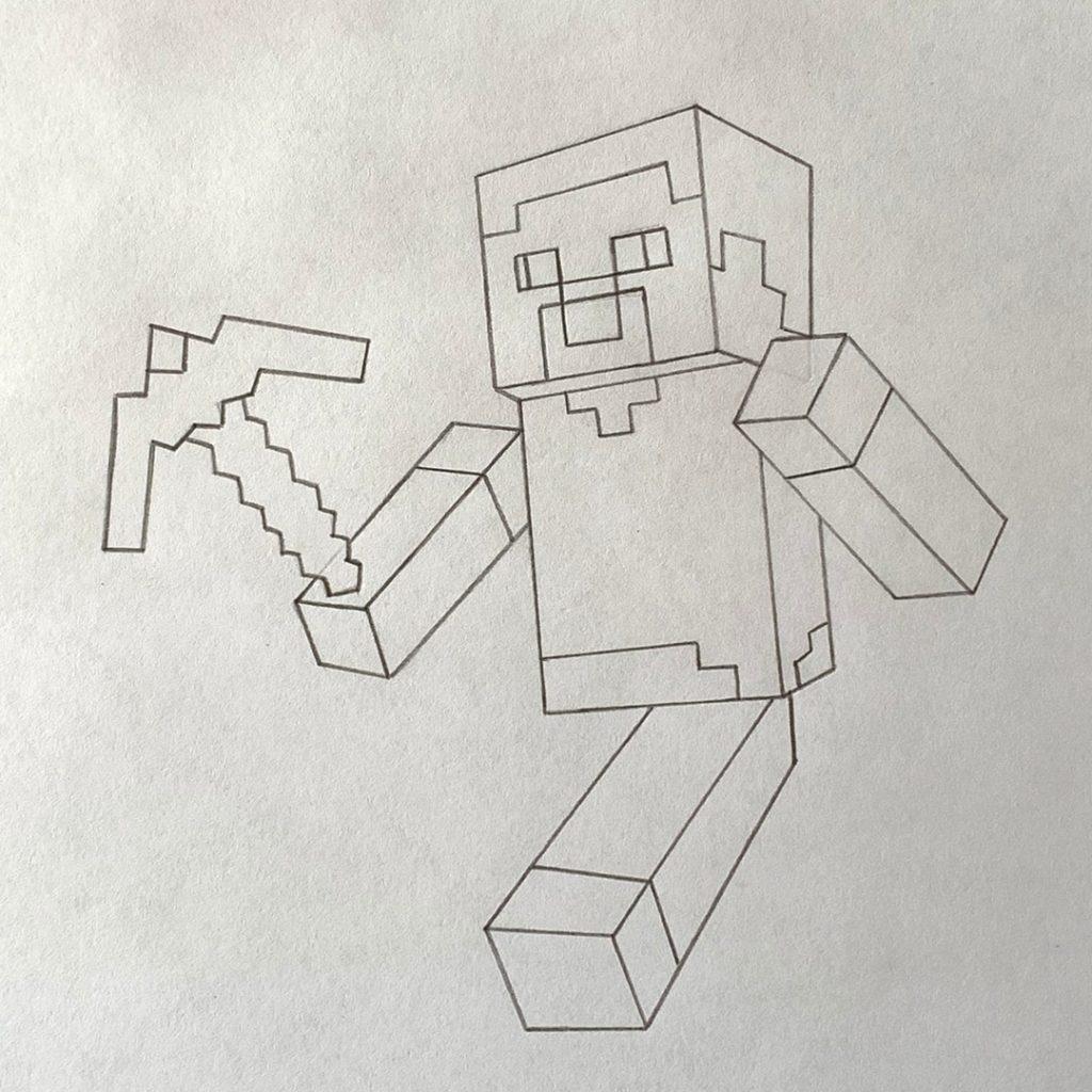 как нарисовать человека из майнкрафта