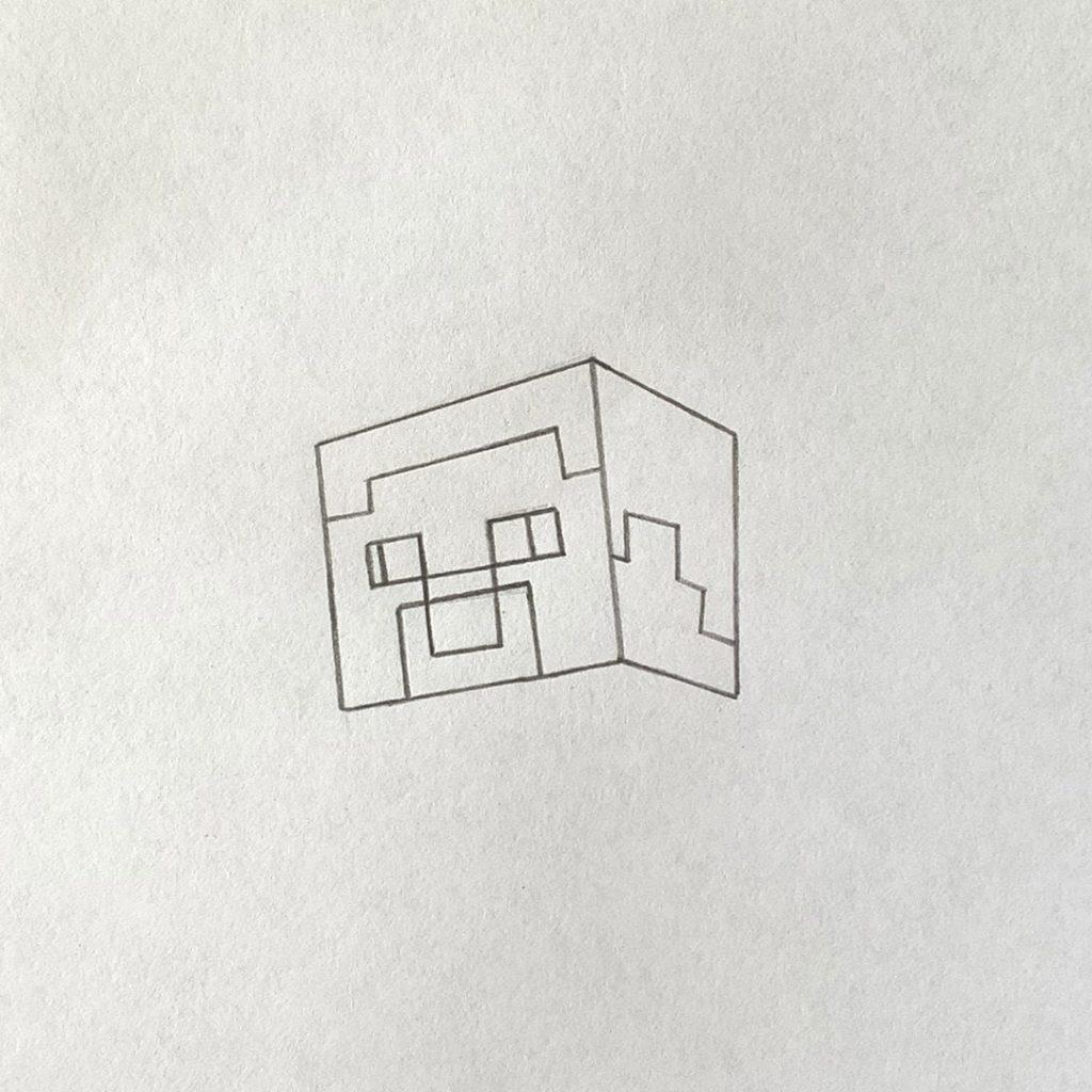 рисунок стива из майнкрафт