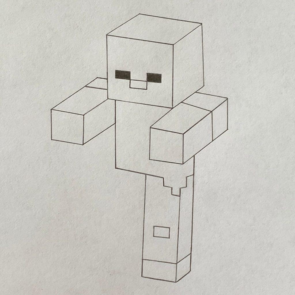 рисунок майнкрафт карандашом